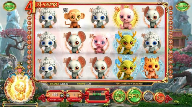 Every 30 spins the Golden animal changes adding a 10x multipler to all winning combinations that include the golden animal.