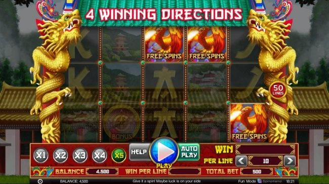 Free Spins feature activated