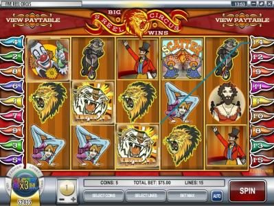 Paradise 8 featuring the video-Slots 5 Reel Circus with a maximum payout of $75,000