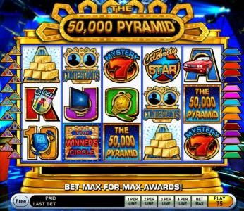 Casumo featuring the Video Slots 50,000 Pyramid with a maximum payout of $250,000