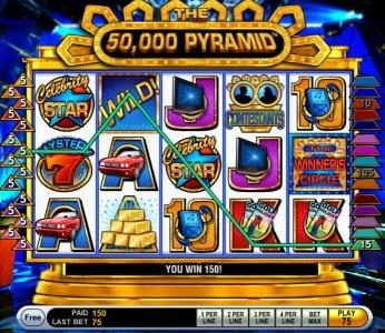 here we have an example of a 150 coin multiline jackpot win.