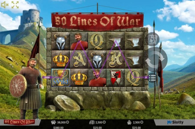 Play slots at VipSpel: VipSpel featuring the Video Slots 50 Lines of War with a maximum payout of $50,000