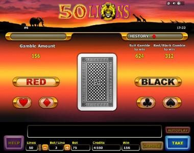 Red Queen featuring the Video Slots 50 Lions with a maximum payout of $4,000