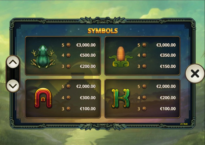 5 Ages of Gold :: Paytable - Medium Value Symbols