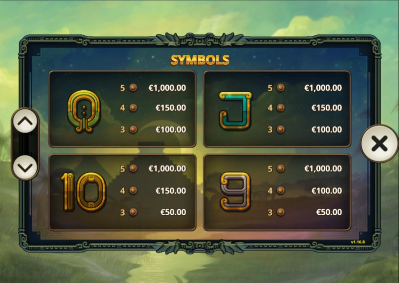5 Ages of Gold :: Paytable - Low Value Symbols
