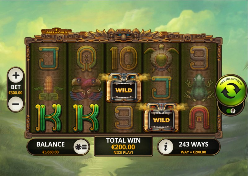 5 Ages of Gold :: A four of a kind win