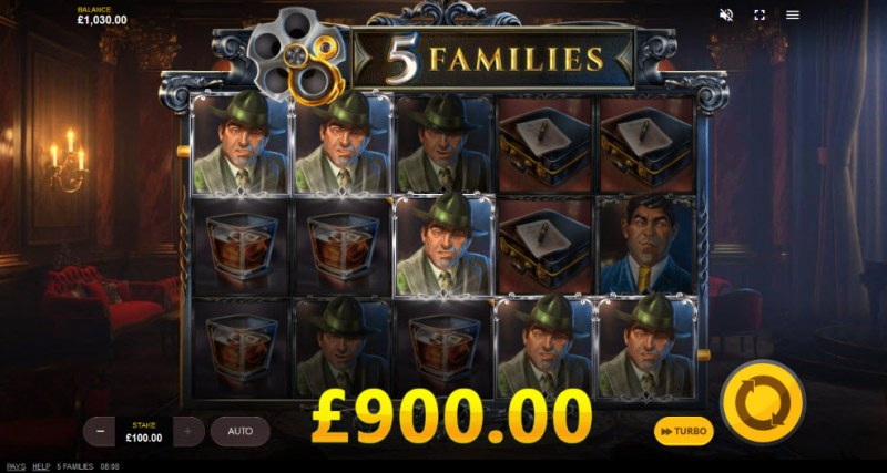 5 Families :: A five of a kind win