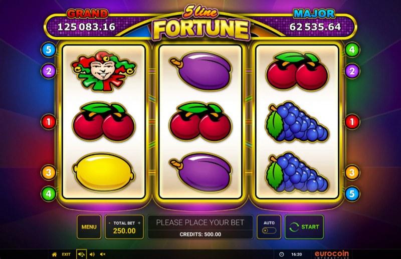 5 Line Fortune :: Main Game Board