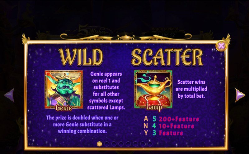 5 Wishes :: Wild and Scatter Rules