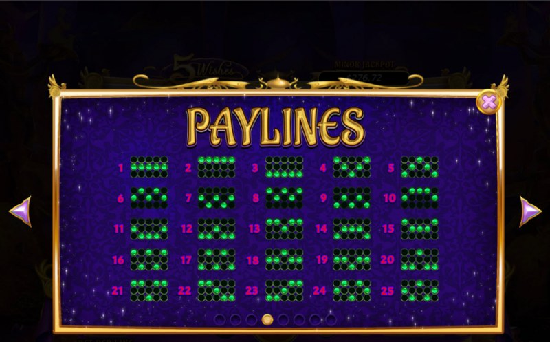 5 Wishes :: Paylines 1-25
