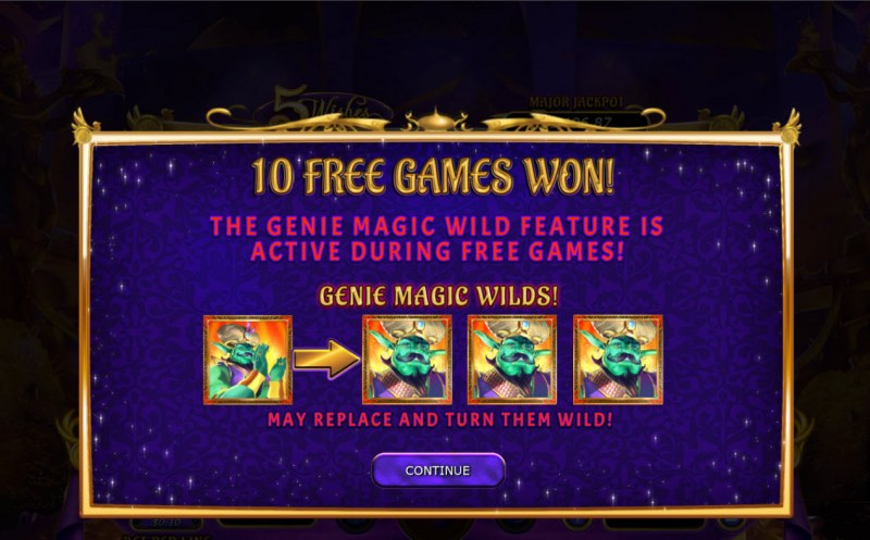 5 Wishes :: 10 free spins awarded