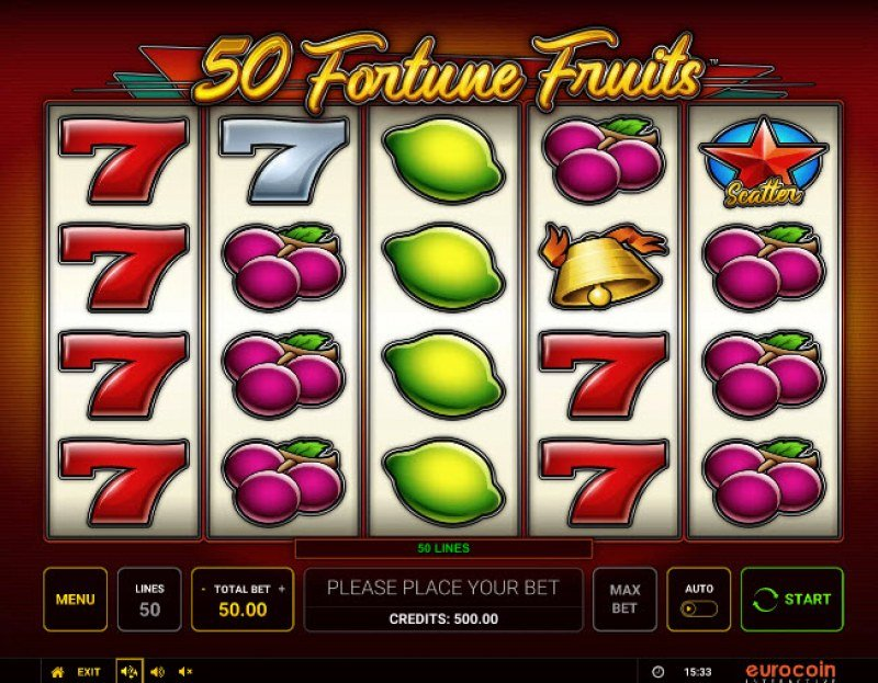 50 Fortune Fruits :: Main Game Board