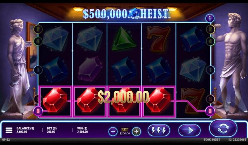 500K Heist :: A four of a kind win