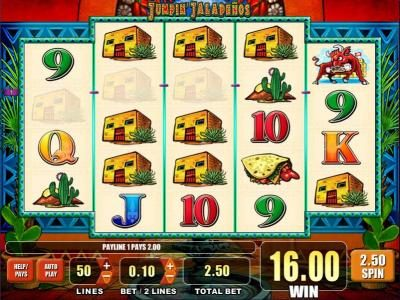 Simba Games featuring the Video Slots Jumpin' Jalapenos with a maximum payout of $2,500