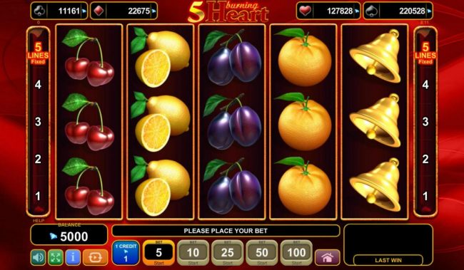 Play slots at Avalon78: Avalon78 featuring the Video Slots 5 Burning Heart with a maximum payout of $2,000,000