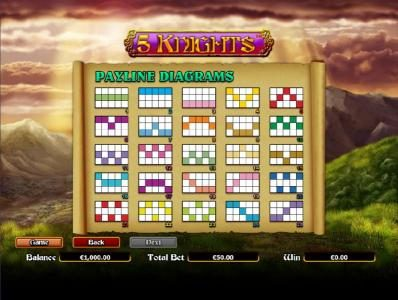 Jellybean Casino featuring the Video Slots 5 Knights with a maximum payout of $6,000