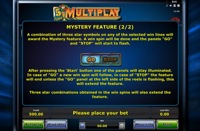 Mystery Feature Rules