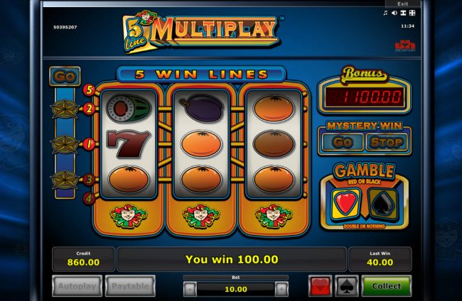 Energy featuring the Video Slots 5 Line Mutiplay with a maximum payout of $25,000