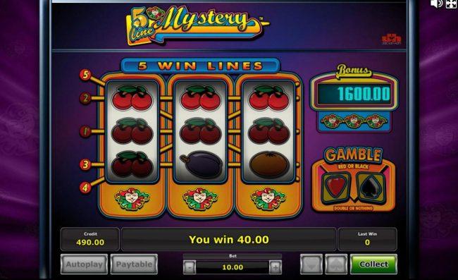 5 Line Mystery :: Multiple winning paylines.