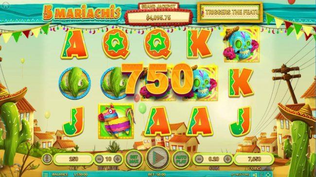 5 Mariachis :: Bonus Feature Triggered