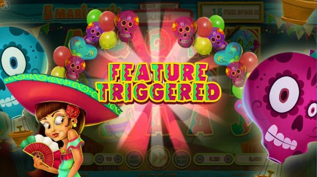 Buran featuring the Video Slots 5 Mariachis with a maximum payout of $100,000