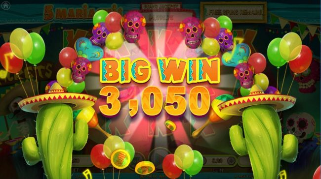 5 Mariachis :: A 3050 coin big win