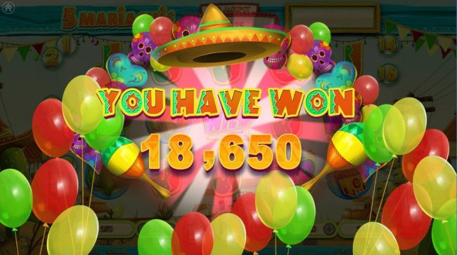 5 Mariachis :: Total Free Games Payout 18650 Coins