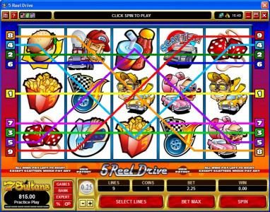 Bonanza featuring the Video Slots 5 Reel Drive with a maximum payout of $20,000