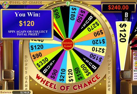 Lincoln featuring the Video Slots Wheel of Chance 5 Reel with a maximum payout of $80,000