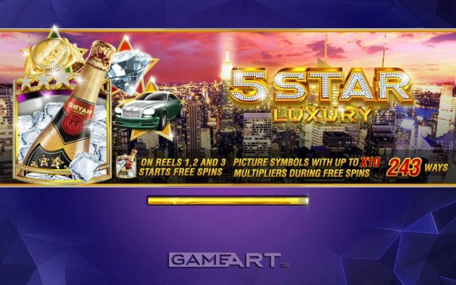 Zet Casino featuring the Video Slots 5 Star Luxury with a maximum payout of $6,250