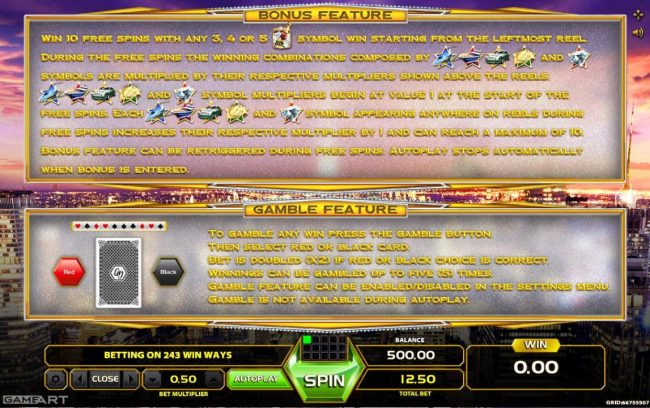 Mongoose Casino featuring the Video Slots 5 Star Luxury with a maximum payout of $6,250