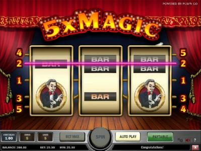 House of Jack featuring the Video Slots 5x Magic with a maximum payout of $5,000