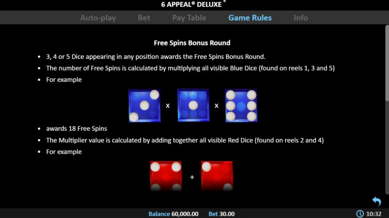 6 Appeal Deluxe :: Free Spins Rules