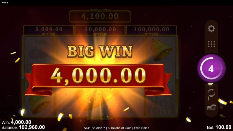 6 Tokens of Gold :: Big Win