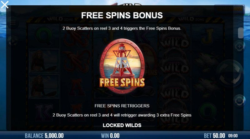 6 Wild Sharks :: Free Spins Rules
