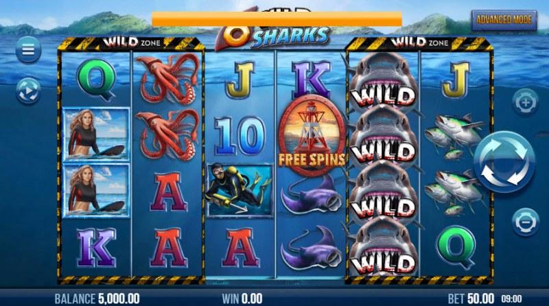 6 Wild Sharks :: Main Game Board