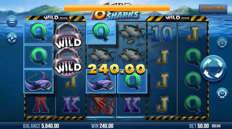 6 Wild Sharks :: Multiple winning paylines