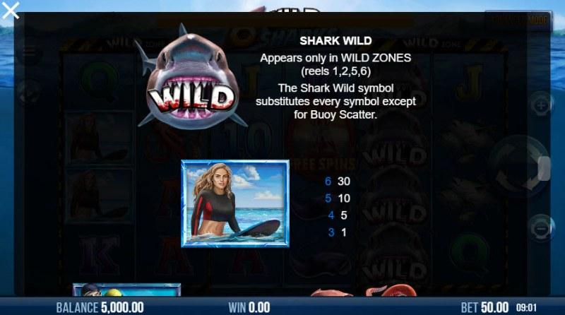 6 Wild Sharks :: Paytable - High Value Symbols