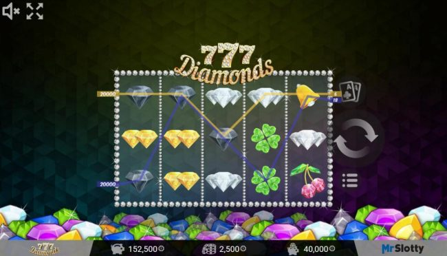 Play slots at X-Bet: X-Bet featuring the Video Slots 777 Diamonds with a maximum payout of $200,000