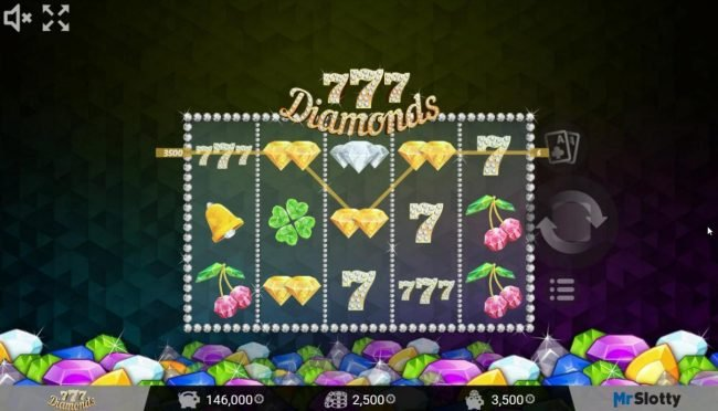 Play slots at Casino Dingo: Casino Dingo featuring the Video Slots 777 Diamonds with a maximum payout of $200,000