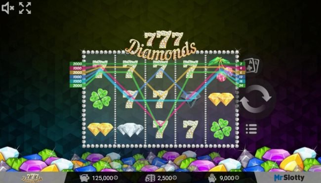 ReelTastic featuring the Video Slots 777 Diamonds with a maximum payout of $200,000