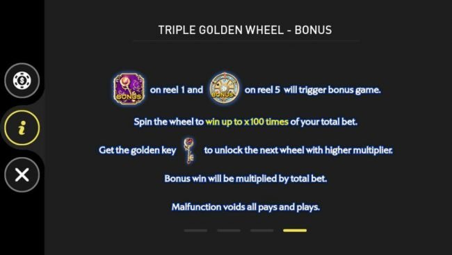 Triple Golden Wheel Bonus Rules