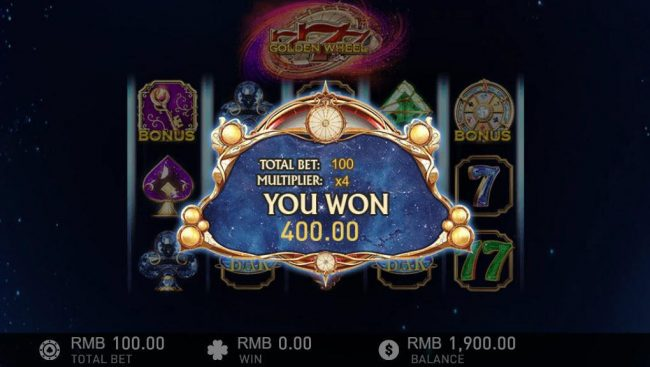Bonus game pays out a total of 400 coin