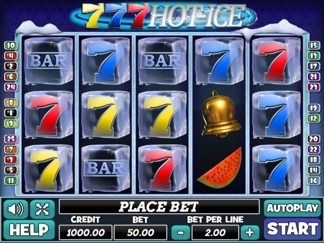 Venetian featuring the Video Slots 777 Hot Ice with a maximum payout of $100,000