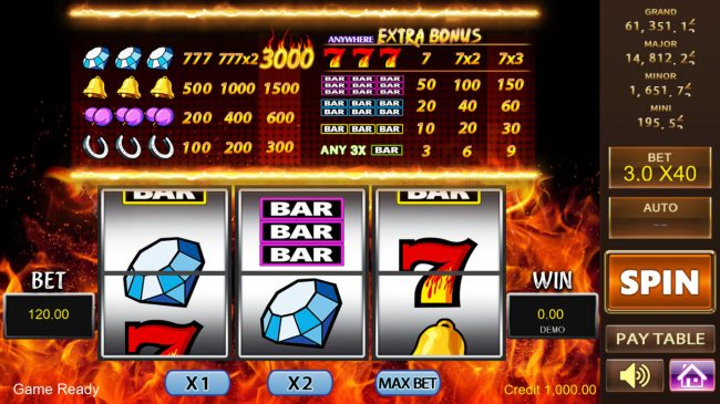 Play slots at Casino Marriott: Casino Marriott featuring the Video Slots 777 with a maximum payout of $120,000