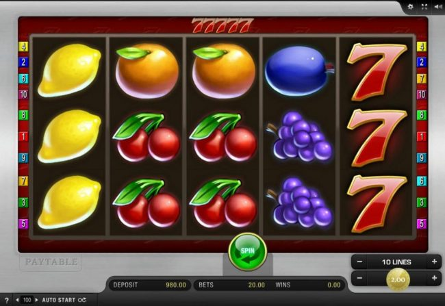 Play slots at Get Slots: Get Slots featuring the Video Slots 77777 with a maximum payout of $10,000