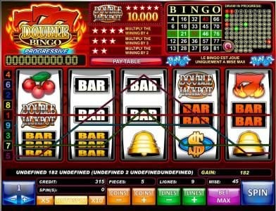 Wicked Bet featuring the Video Slots 777 Double Bingo with a maximum payout of $50,000