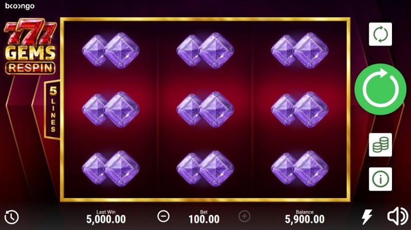 777 Gems Respin :: Respin triggers an additional win