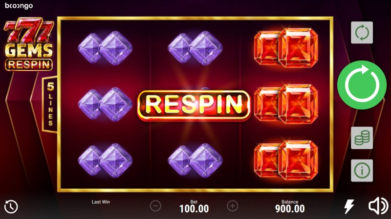 777 Gems Respin :: Respin activated