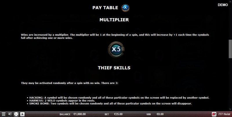 777 Heist :: Feature Rules